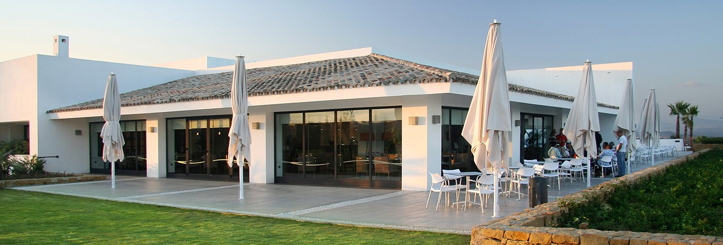 Image of: Club House Alcaidesa - Alcaidesa Links Golf Resort | A golf club with views to the sea, Gibraltar, Africa, in the area of Sotogrande