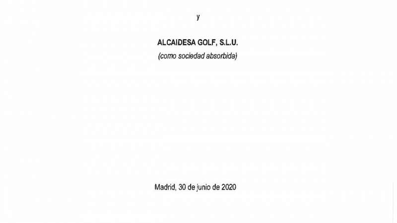 Fusión Alcaidesa Golf S.L.U en favor de Alcaidesa Holding S.A.U - Alcaidesa Links Golf Resort
