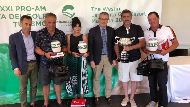 El Equipo de Alcaidesa Golf vencedor de la XXI edición del Pro Am Costa del Golf Turismo en The Westin La Quinta Golf. - Alcaidesa Links Golf Resort