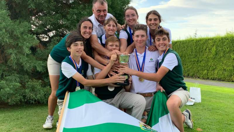 The Andalusian Team winner of the Spanish FF AA Children's Championship, 'VIII Memorial Blanca Mayor' - Alcaidesa Links Golf Resort