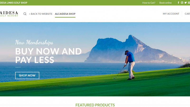 ALCAIDESA LINKS GOLF RESORT LAUNCH ITS SHOP ON LINE - Alcaidesa Links Golf Resort